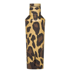 Corkcicle 16oz Canteen Leopard Metallic Drinkware