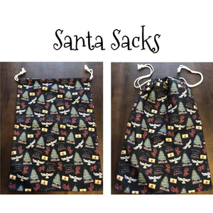 Custom Santa Sacks - PREORDER Closed 25 Aug ETA early November Hogwarts Christmas Santa Sacks