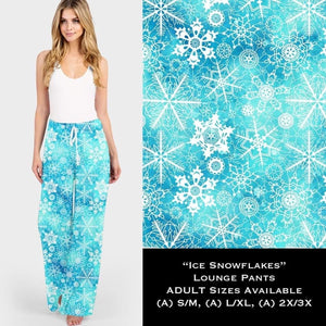 Christmas Lounge Pants Preorder CLOSES 10 Aug - ETA late October Ice Snowflakes / S/M Lounge Pants
