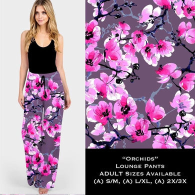 Lounge Pants Preorder CLOSES 13 Aug - ETA late October 2XL/3XL / Orchids Lounge Pants