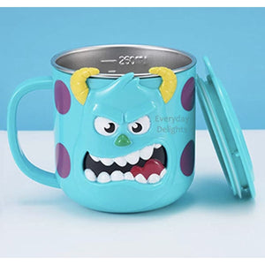 PREORDER 3D Character Stainless Steel 250ml Mugs with Lids Sully Accessories