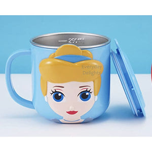 PREORDER 3D Character Stainless Steel 250ml Mugs with Lids Cinderella Accessories