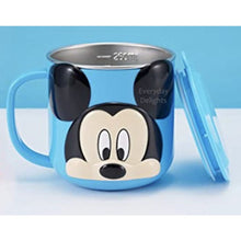 PREORDER 3D Character Stainless Steel 250ml Mugs with Lids Mickey Blue Accessories