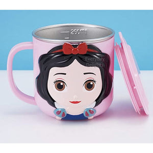 PREORDER 3D Character Stainless Steel 250ml Mugs with Lids Snow White Accessories