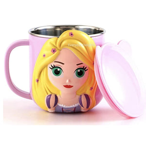 PREORDER 3D Character Stainless Steel 250ml Mugs with Lids Rapunzel Accessories