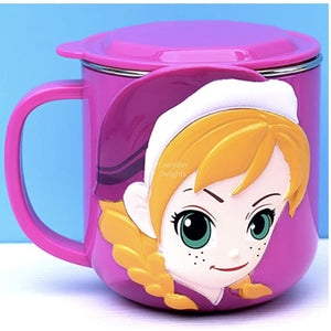 PREORDER 3D Character Stainless Steel 250ml Mugs with Lids Anna