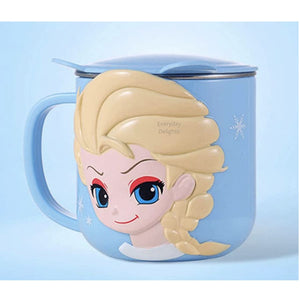 PREORDER 3D Character Stainless Steel 250ml Mugs with Lids Elsa Accessories