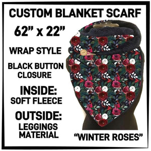 PREORDER Custom Blanket Scarf matching dog scarf too! Closes 15 OCT ETA early January Winter Roses / Adult Scarf