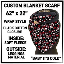 PREORDER Custom Blanket Scarf matching dog scarf too! Closes 15 OCT ETA early January Baby It's Cold / Adult Scarf