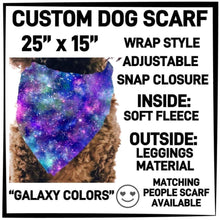 PREORDER Custom Blanket Scarf matching dog scarf too! Closes 15 OCT ETA early January Galaxy Colours / Dog Scarf