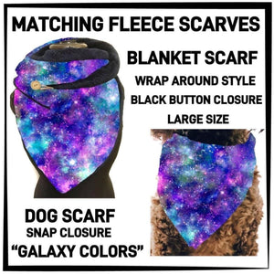 PREORDER Custom Blanket Scarf matching dog scarf too! Closes 15 OCT ETA early January Scarf