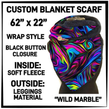 PREORDER Custom Blanket Scarf matching dog scarf too! Closes 15 OCT ETA early January Wild Marble / Adult Scarf