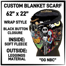 PREORDER Custom Blanket Scarf matching dog scarf too! Closes 15 OCT ETA early January OG NBC / Adult Scarf