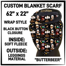 PREORDER Custom Blanket Scarf matching dog scarf too! Closes 15 OCT ETA early January Butterbeer / Adult Scarf