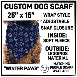 PREORDER Custom Blanket Scarf matching dog scarf too! Closes 15 OCT ETA early January Winter Paws / Dog Scarf