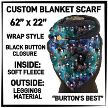 PREORDER Custom Blanket Scarf matching dog scarf too! Closes 15 OCT ETA early January Burton's Best / Adult Scarf