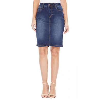 Judy Blue Denim Skirt - Dark Blue S / Dark Blue Denim Skirt