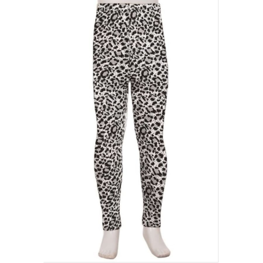 Kids Leggings High Waisted Full Length S/M / Leopard Kids Leggings