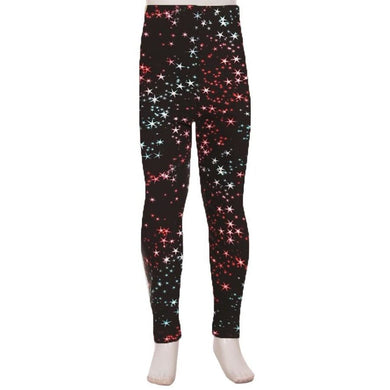 Kids Leggings High Waisted Full Length S/M / Stars Kids Leggings