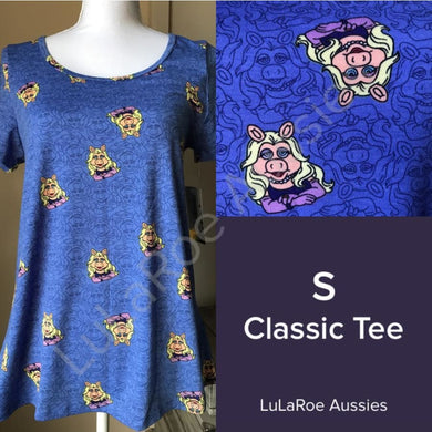 LuLaRoe Disney Classic T S / Blue Miss Piggy Tops