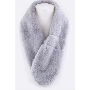 Plush Pull Through Scarf Grey Scarves