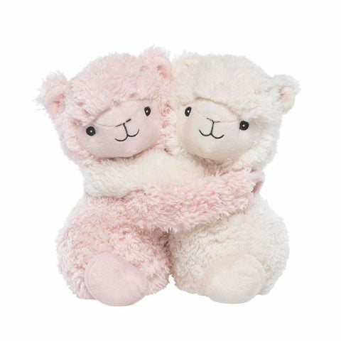 NEW! Warmies - Plush Animals filled with Flaxseed and French Lavender - use hot or cold! Hugging Llamas 9 or 23cm Accessories