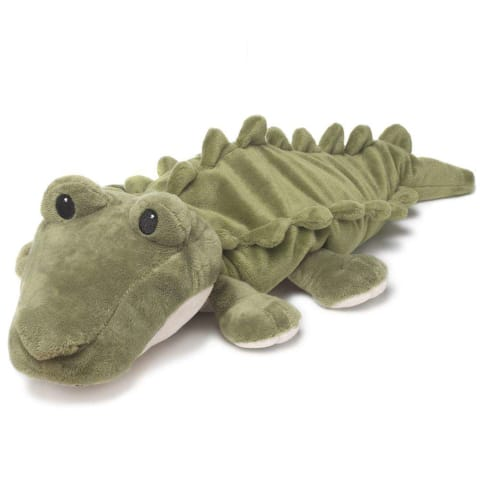 Warmies Large 33cm - Plush Animals filled with Flaxseed and French Lavender - Crocodile