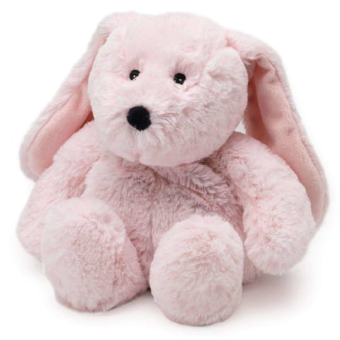 Warmies Large 33cm - Plush Animals filled with Flaxseed and French Lavender - Pink Bunny