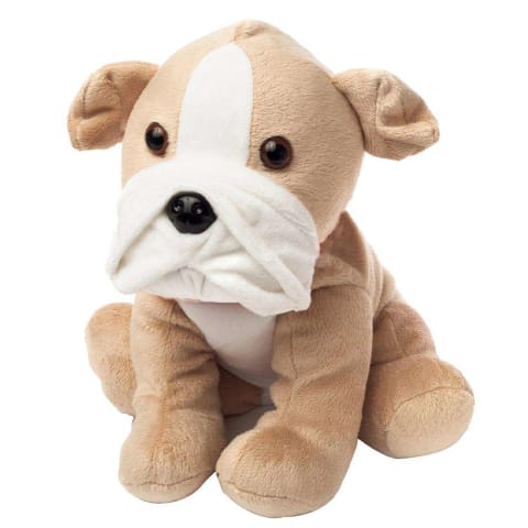 Warmies Large 33cm - Plush Animals filled with Flaxseed and French Lavender - Bulldog