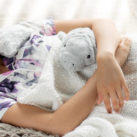 Warmies Large 33cm - Plush Animals filled with Flaxseed and French Lavender - Manatee