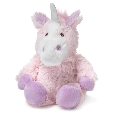 Warmies Large 33cm - Plush Animals filled with Flaxseed and French Lavender - Unicorn