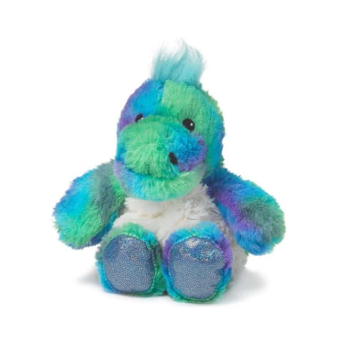 Warmies Junior 9 / 23cm - Plush Animals filled with Flaxseed and French Lavender - Rainbow Dinosaur