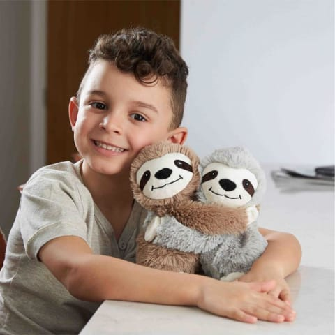 Warmies Hugs 9 / 23cm - Plush Animals filled with Flaxseed and French Lavender - Sloth Hugs