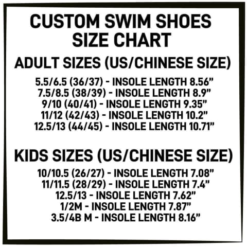 PREORDER Custom Design Water/Swim Shoes - Adults and Kids