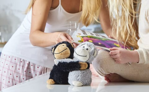 Warmies Hugs 9 / 23cm - Plush Animals filled with Flaxseed and French Lavender - Monkey Hugs