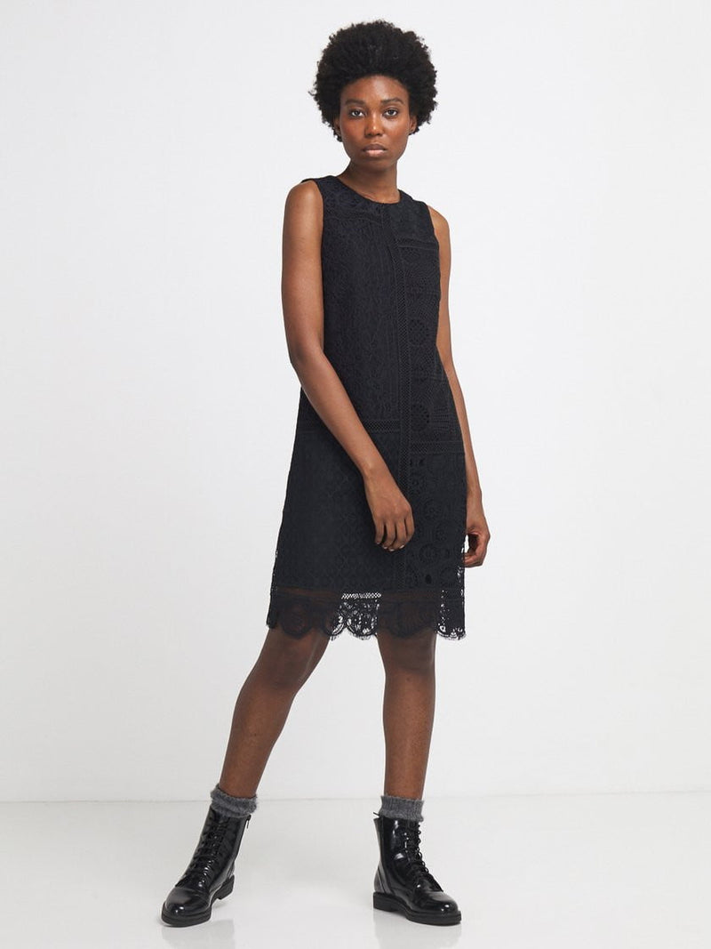 Desigual Sleeveless Black Lace Dress - Three Bears Coastal Urban