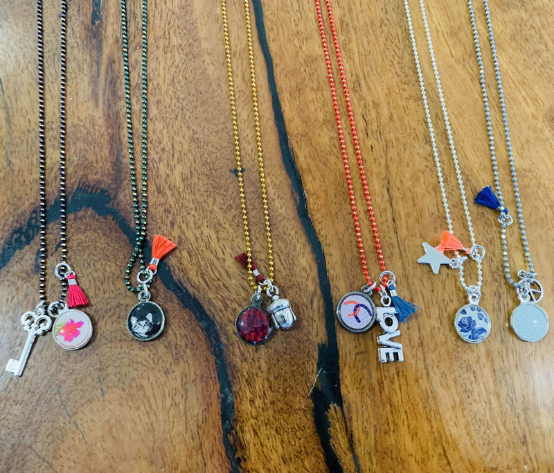 Litchi pack of 6 Necklaces Colliers Grigi - Three Bears Coastal Urban