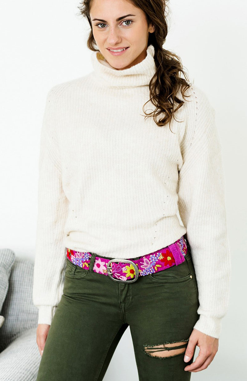 Smitten Pink Floral Belt - Three Bears  #threebearsperth
