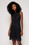 Desigual Sleeveless Black Lace Dress - Three Bears  #threebearsperth