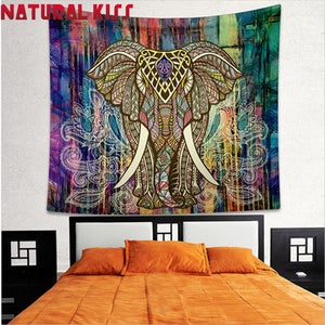 Indian Elephant Tapestry Boho Yoga Mat/Blanket