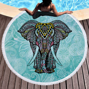 Bohemian Indian Elephant Yoga Mat/Blanket