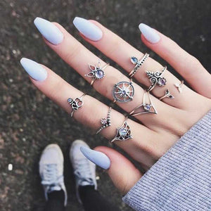 9 Pcs/set Bohemian Ring Set- Promo
