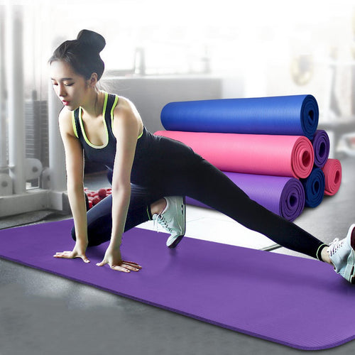 10mm Thick Yoga Mat Pad Non-Slip