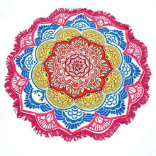 Round Yoga Mat With Flowers Pattern