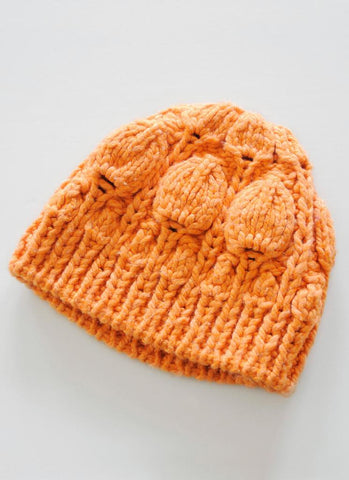 Chinese Lantern Hat Kit with Blue Sky Fibers Outer Yarn at Michigan Fine Yarns