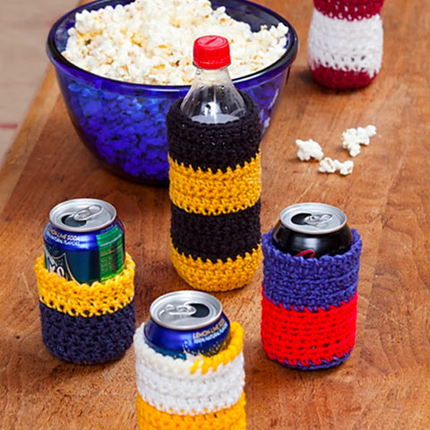 Crocheted Can Cozie by Designer Whitney Christmas