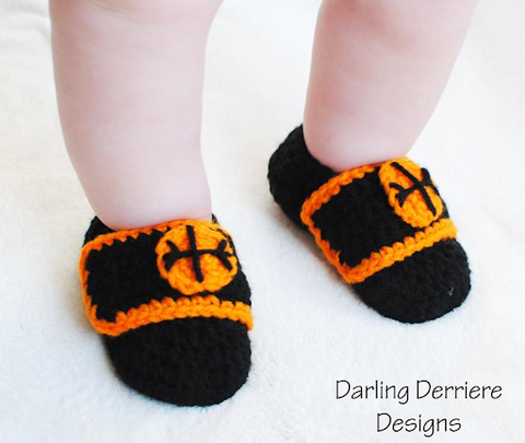 Sports Baby Booties Pattern by Designer Kellie and Julie of Darling Derriere