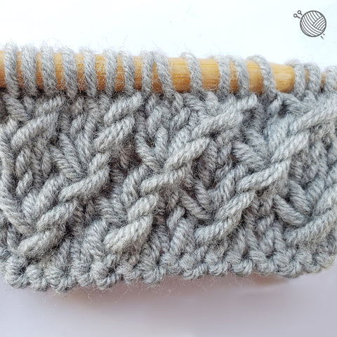 Finished Star Stitch Tutorial Image: Your right side will have the star stitch texture.