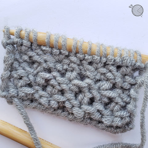 Finished Start Stitch Tutorial Image: Your wrong side will have a garter-ish look.