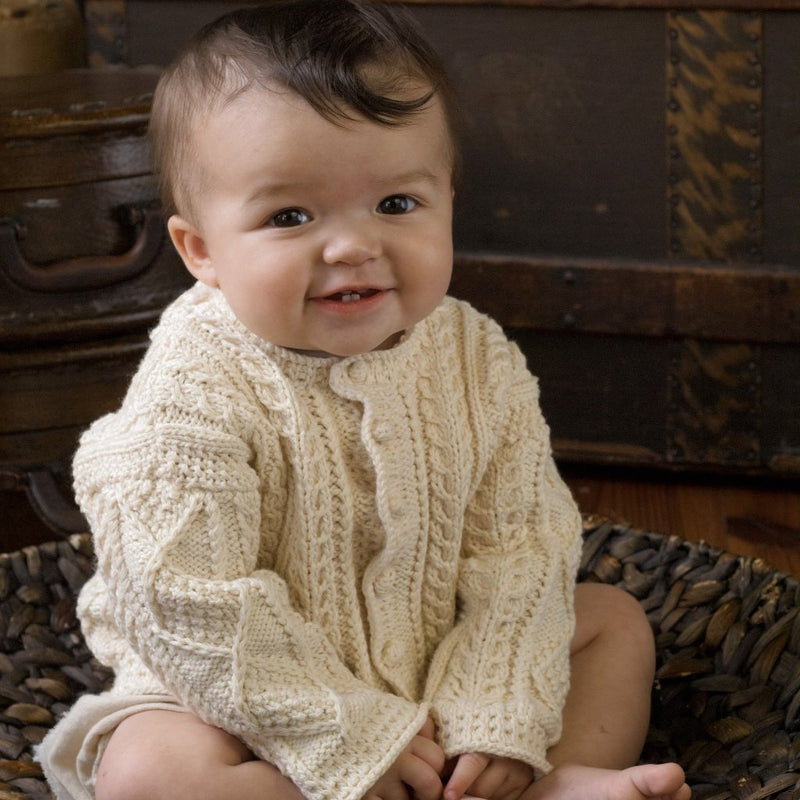 Appalachian Baby Design Aran Baby Cardigan Kit at Michigan Fine Yarns